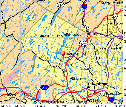 Wanaque, NJ map