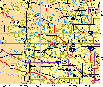 Barrington, IL map
