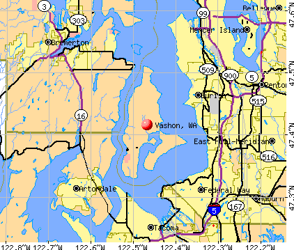 Vashon, WA map