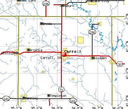 Carroll, IA map