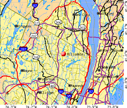 Hillsdale, NJ map