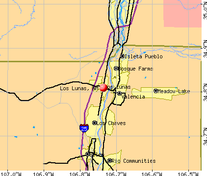 Los Lunas, NM map
