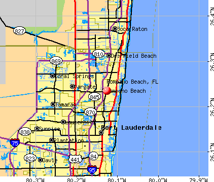 Pompano Beach, FL map