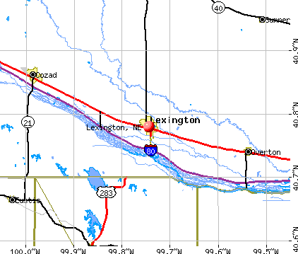 Lexington, NE map