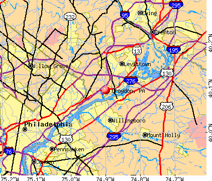 Croydon, PA map