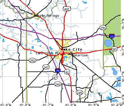 Lake City, FL map