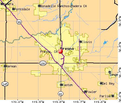 Fresno, CA map