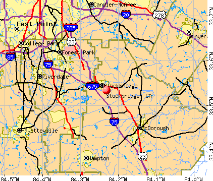 Stockbridge, GA map