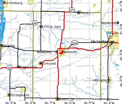 Monmouth, IL map