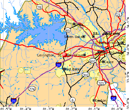 Lexington, SC map