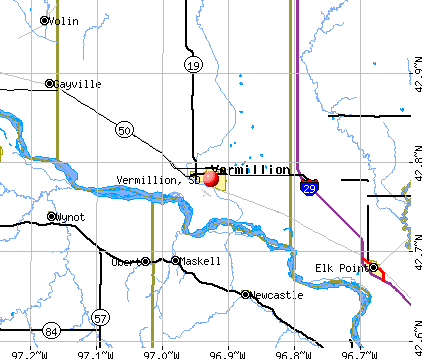 Vermillion, SD map