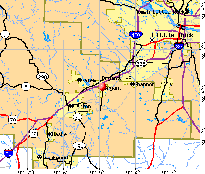 Bryant, AR map