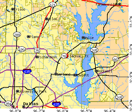 Sachse, TX map