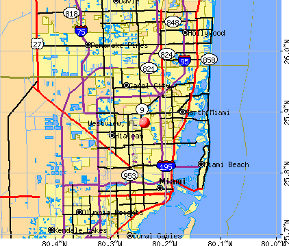Westview, FL map