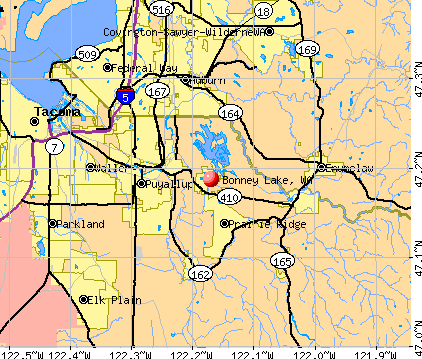 Bonney Lake, WA map