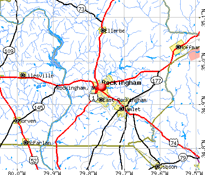 Rockingham, NC map