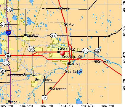 Greeley, CO map