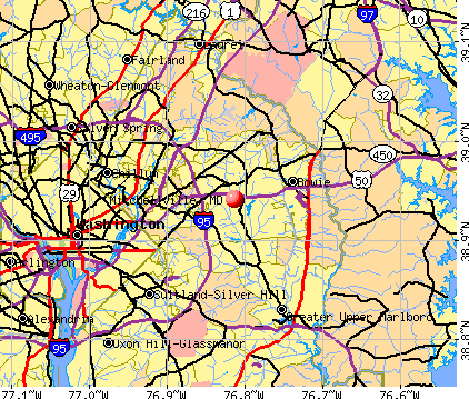 Mitchellville, MD map