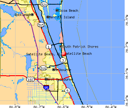 Satellite Beach, FL map