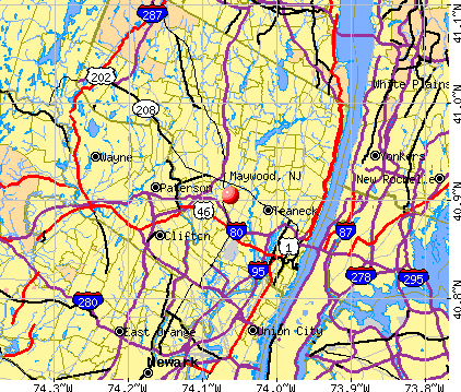 Maywood, NJ map
