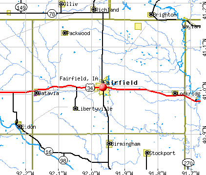 Fairfield, IA map