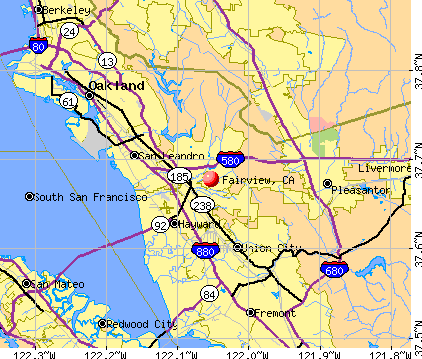 Fairview, CA map