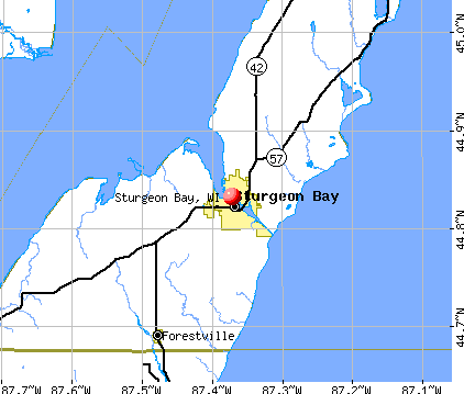 Sturgeon Bay, WI map