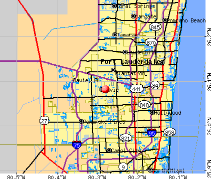 Davie, FL map