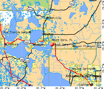 Mount Dora, FL map