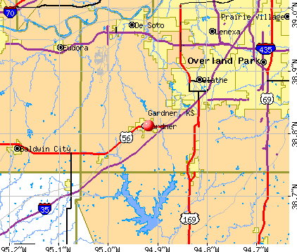 Gardner, KS map
