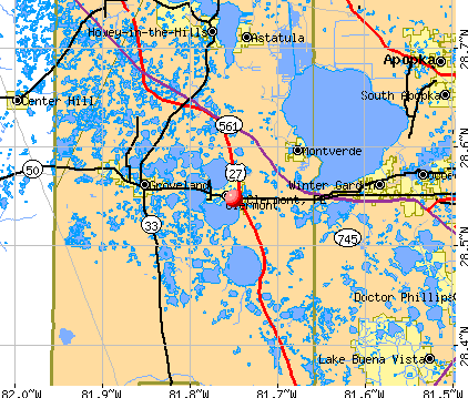 Clermont, FL map