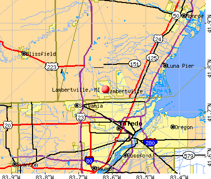 Lambertville, MI map