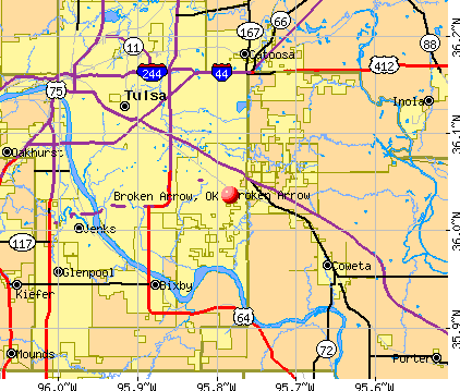 Broken Arrow, OK map