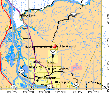 Battle Ground, WA map