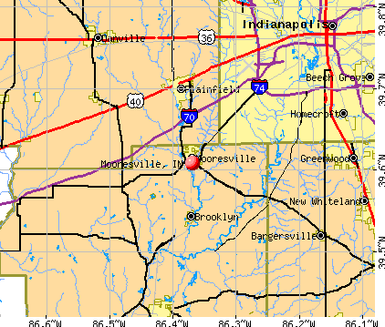 Mooresville, IN map