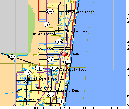 Boca Raton, FL map
