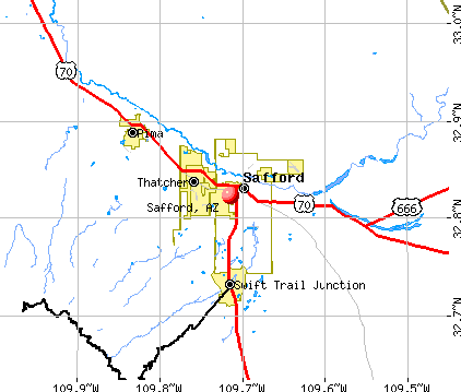 Safford, AZ map