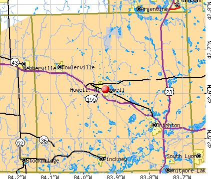 Howell, MI map