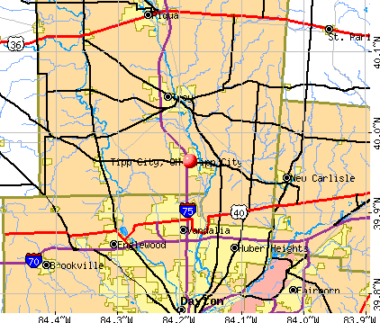 County In Tipp City Map