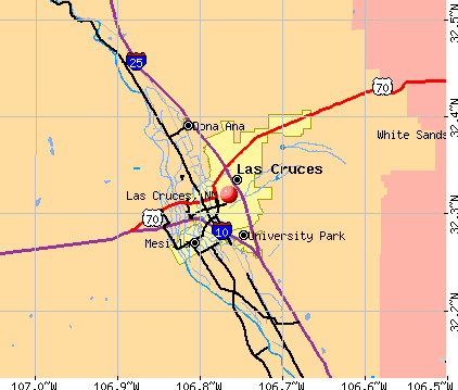 Las Cruces, NM map