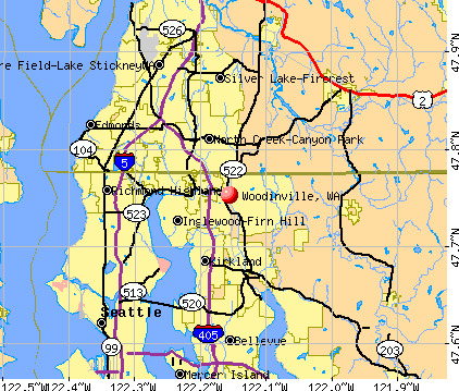Woodinville, WA map