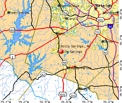 Holly Springs, NC map