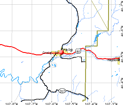 Craig, CO map