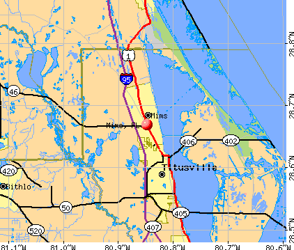 Mims, FL map