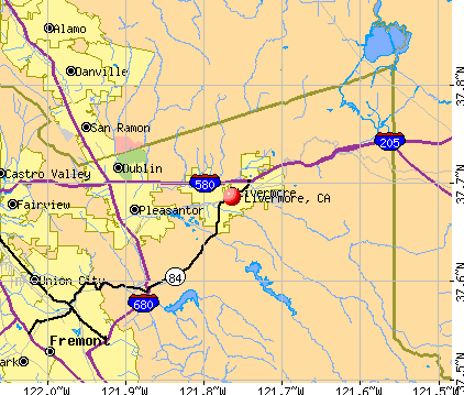 Livermore, CA map