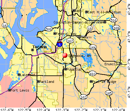 Edgewood, WA map