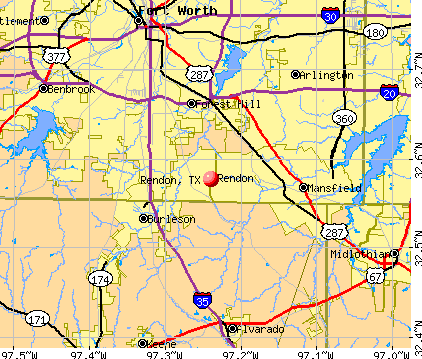 Rendon, TX map