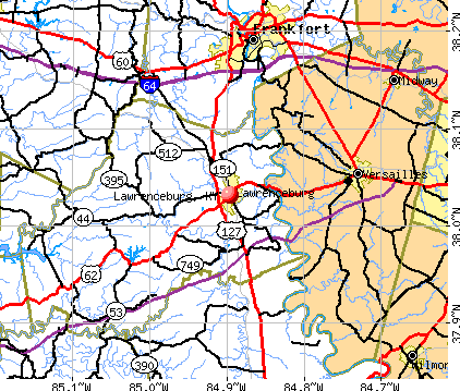 Lawrenceburg, KY map