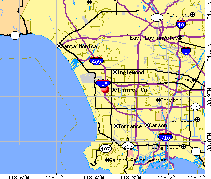 Del Aire, CA map