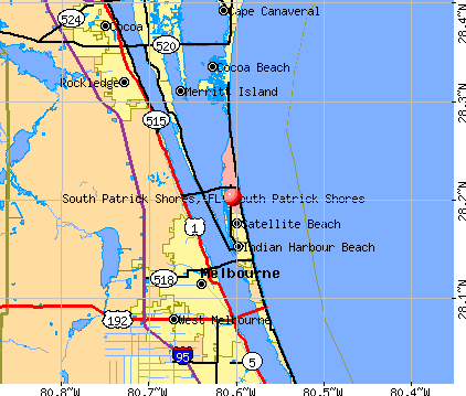South Patrick Shores, FL map